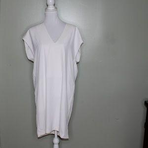 everlane women white Triacetate dress SZ 8